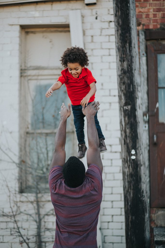 Mann und Kind